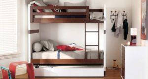Двухъярусные детские кровати с диваном экономят квадраты!