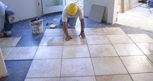 Процедура монтажа керамической плитки