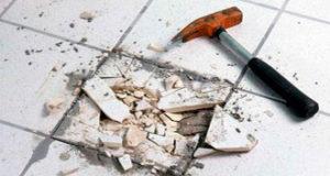 Ремонт поврежденной плитки