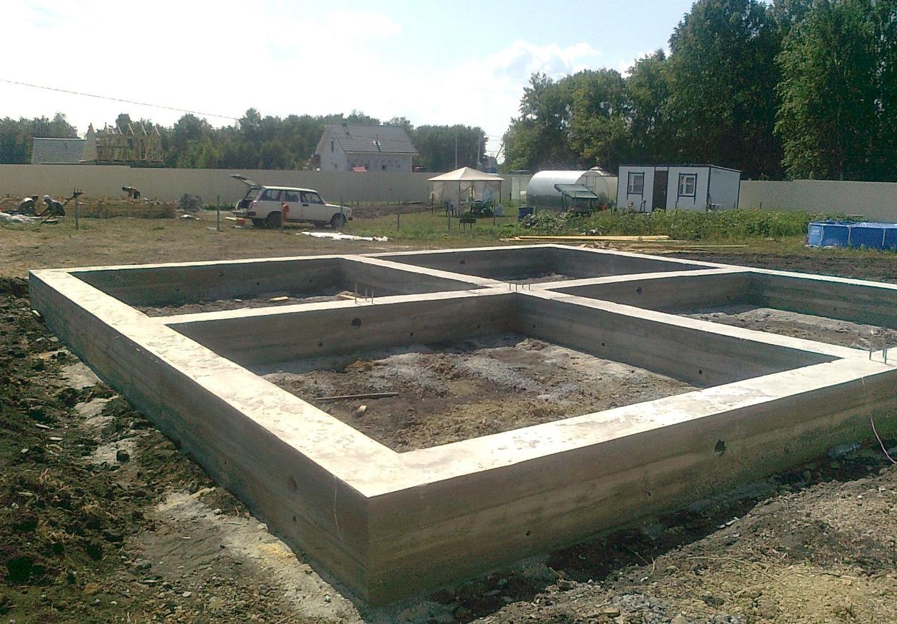 Ленточный фундамент под баню 6х4