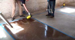 Химическое окрашивание бетона