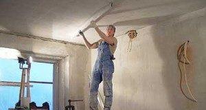 Выравнивание потолка: подготовительные работы