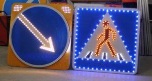 Дорожные светодиодные знаки – отличная новинка для дорог