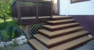 Сооружение лестницы для террасы