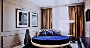 Новый тренд  круглая кровать в спальне