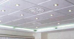 Укладываем потолочную плитку