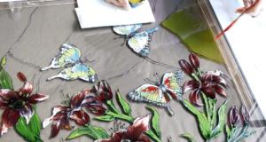 Как раскрасить стекло Бесплатные советы от мастеров