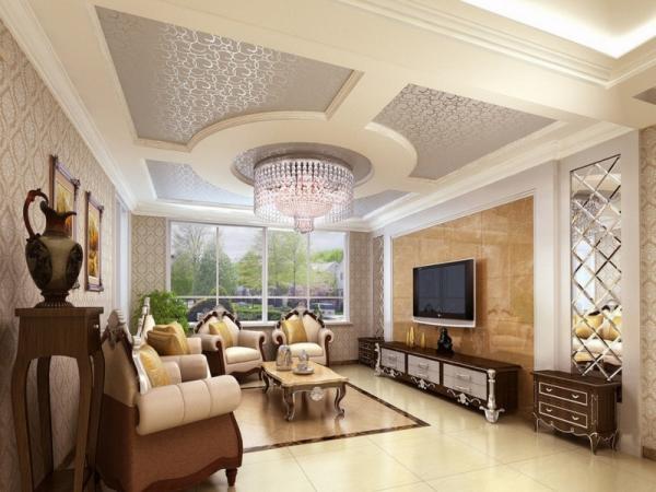 Дизайн потолков из гипсокартона фото для зала