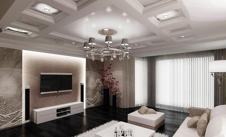 Кессонные потолки, как сделать, плюсы и минусы
