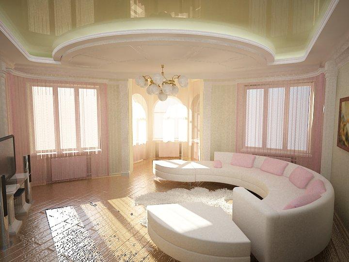 Потолки натяжные, фото для зала и рекомендации