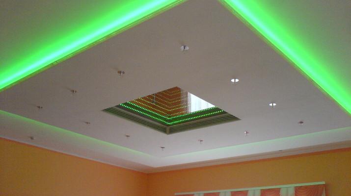 Потолки с подсветкой светодиодной, фото готовых вариантов