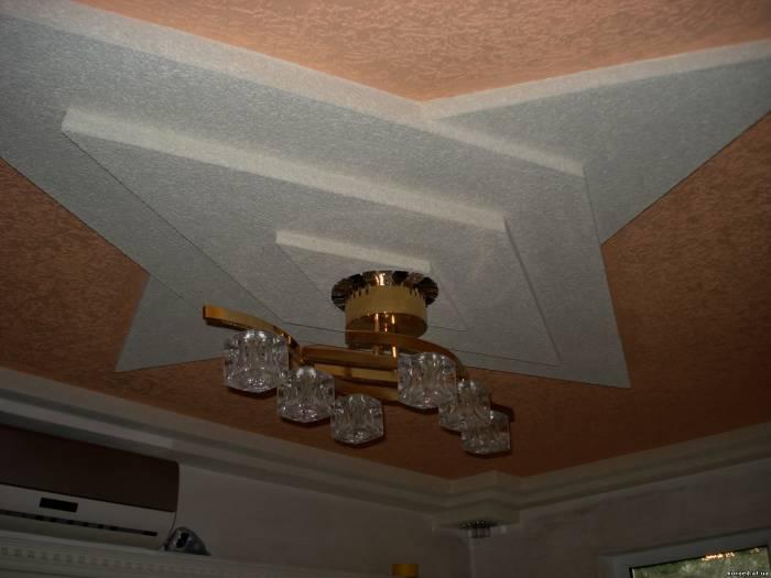 Потолок на кухне какой лучше, фото готовых решений