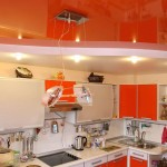 Потолок оранжевого цвета, особенности использования, оттенки