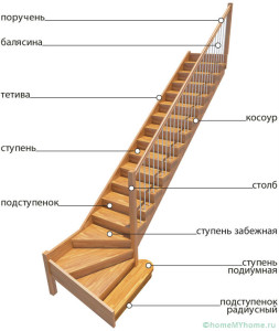 Строение лестницы для дома и ее виды