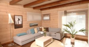 Внутренняя отделка деревянного дома в комплексе услуг