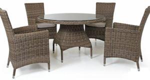 Плетеная мебель: украшение придомовой территории
