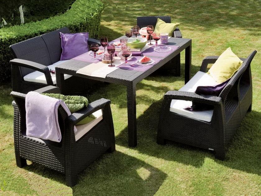 Садовая мебель из искусственного ротанга – эргономичность и комфорт