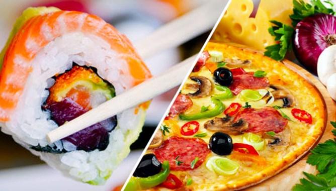 Быстрая доставка вкуснейшей пиццы и суши